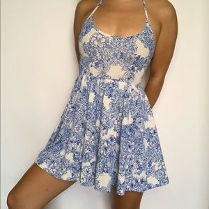 American Apparel china floral print skater dress